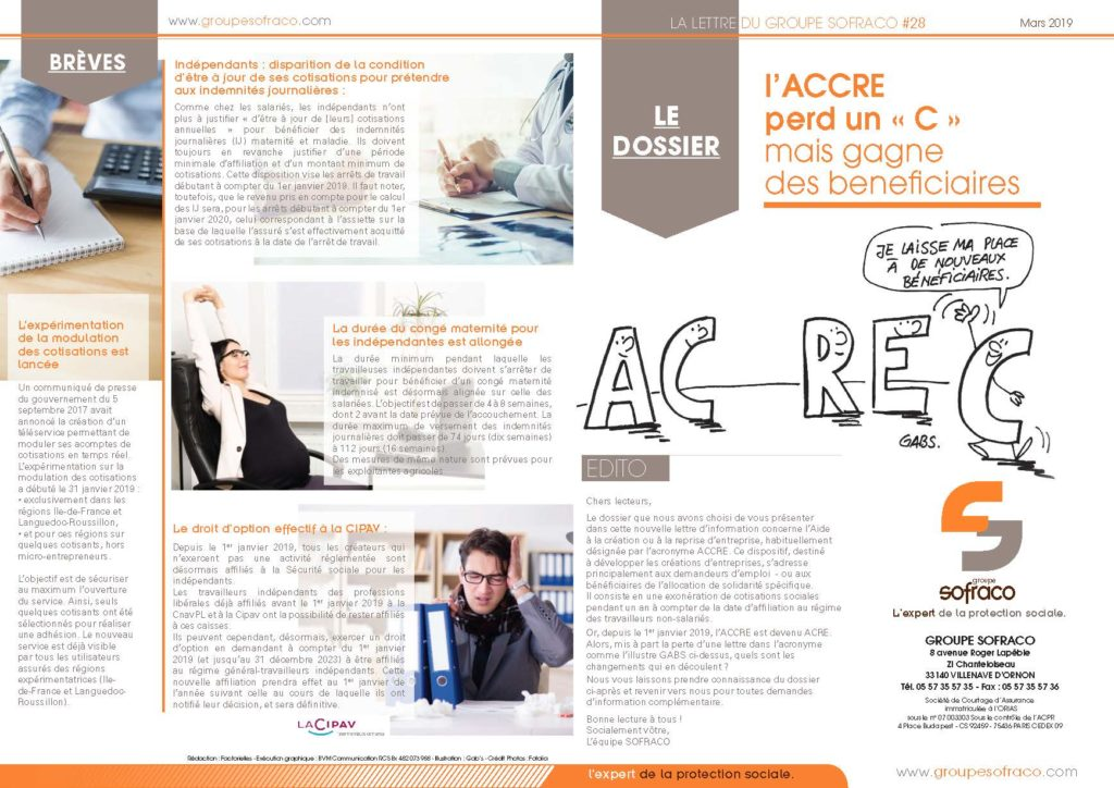 newsletter-sofraco-03-2019-artem-assurances